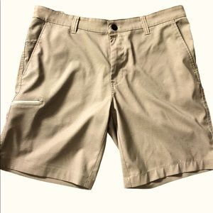 Hawke & Co Flat Front Performance Shorts, size 34